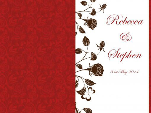 Rebecca and Stephen Wedding Invites and Website