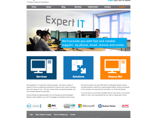 Expert IT New Logo and Website