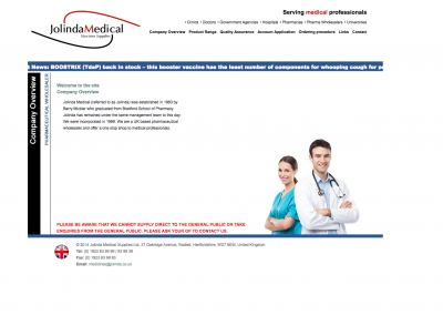 Jolinda Medical Website