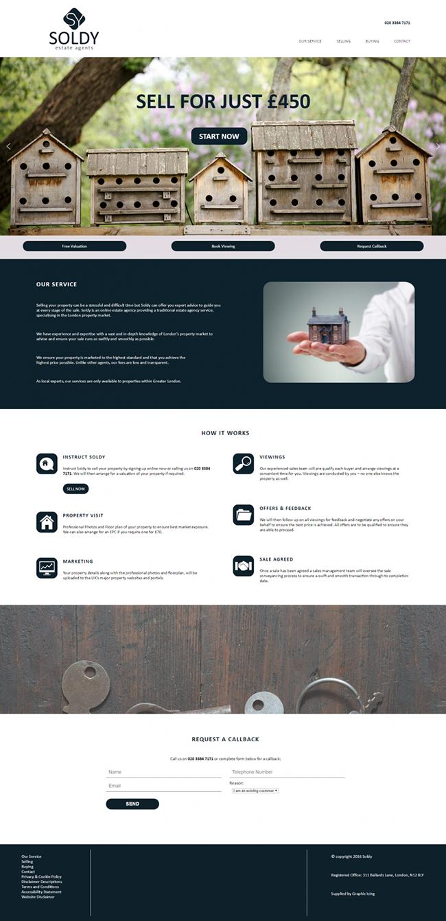 Soldy website design