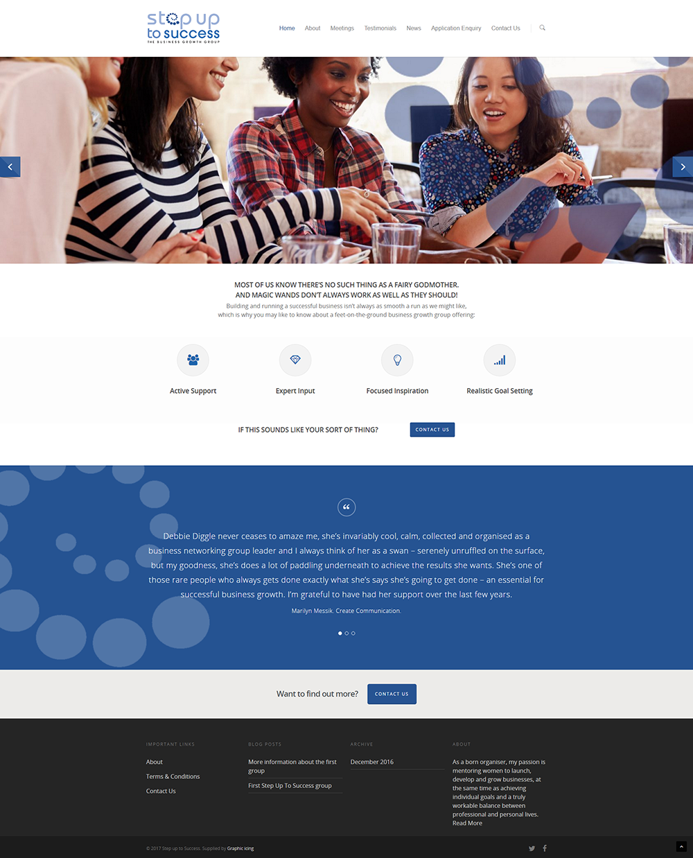 Step up to success website design