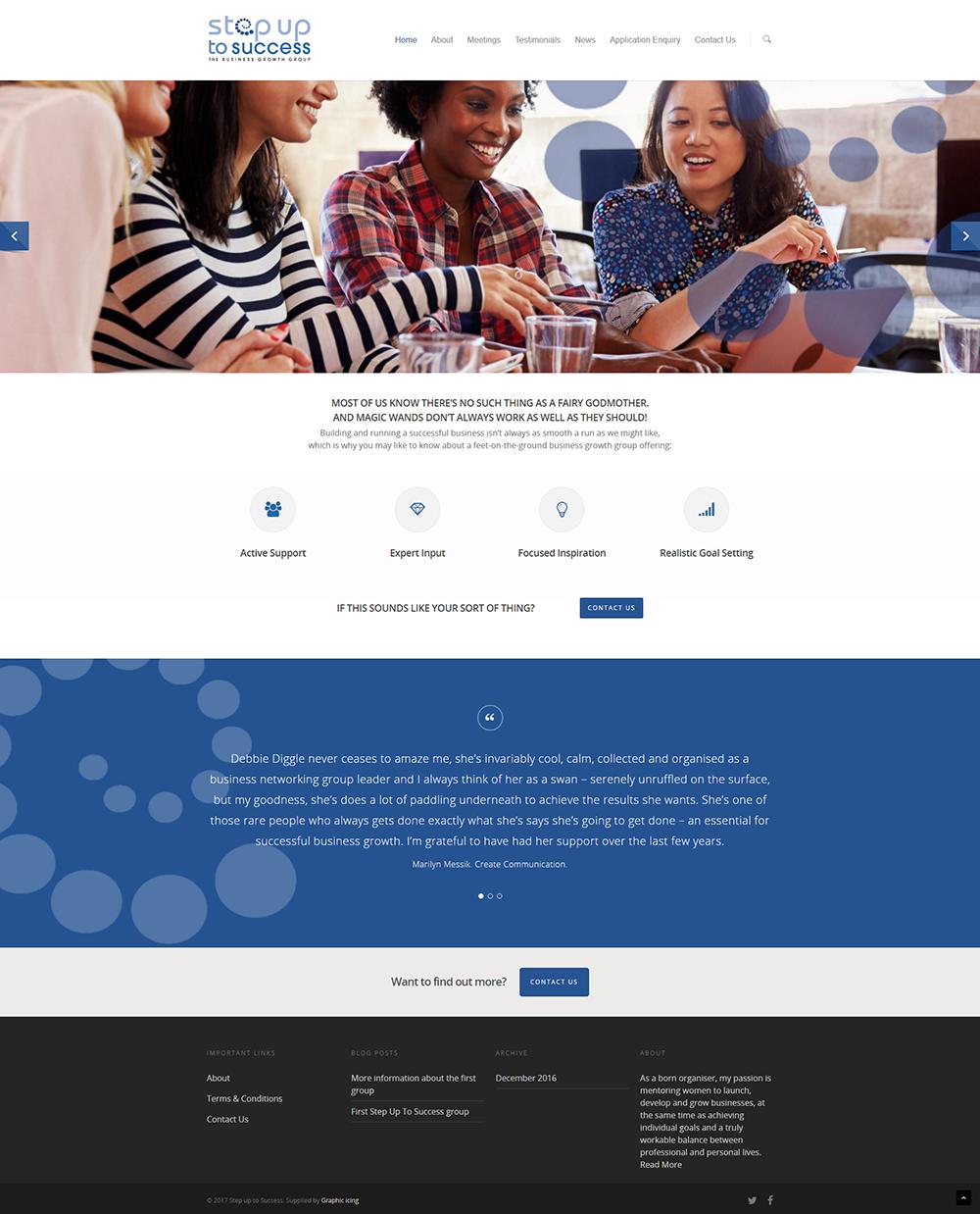 Step up to success website design