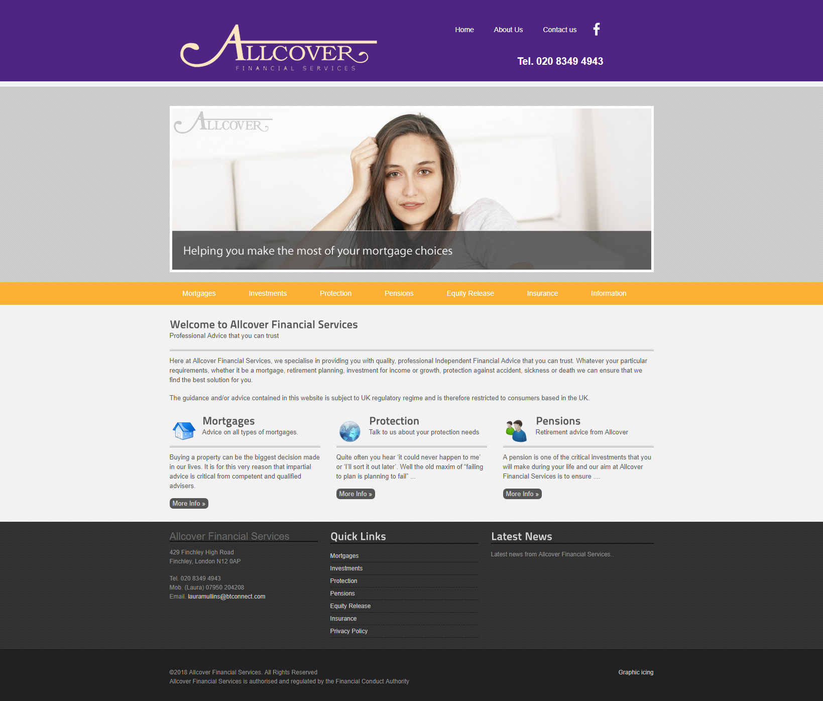 Allcover website design update