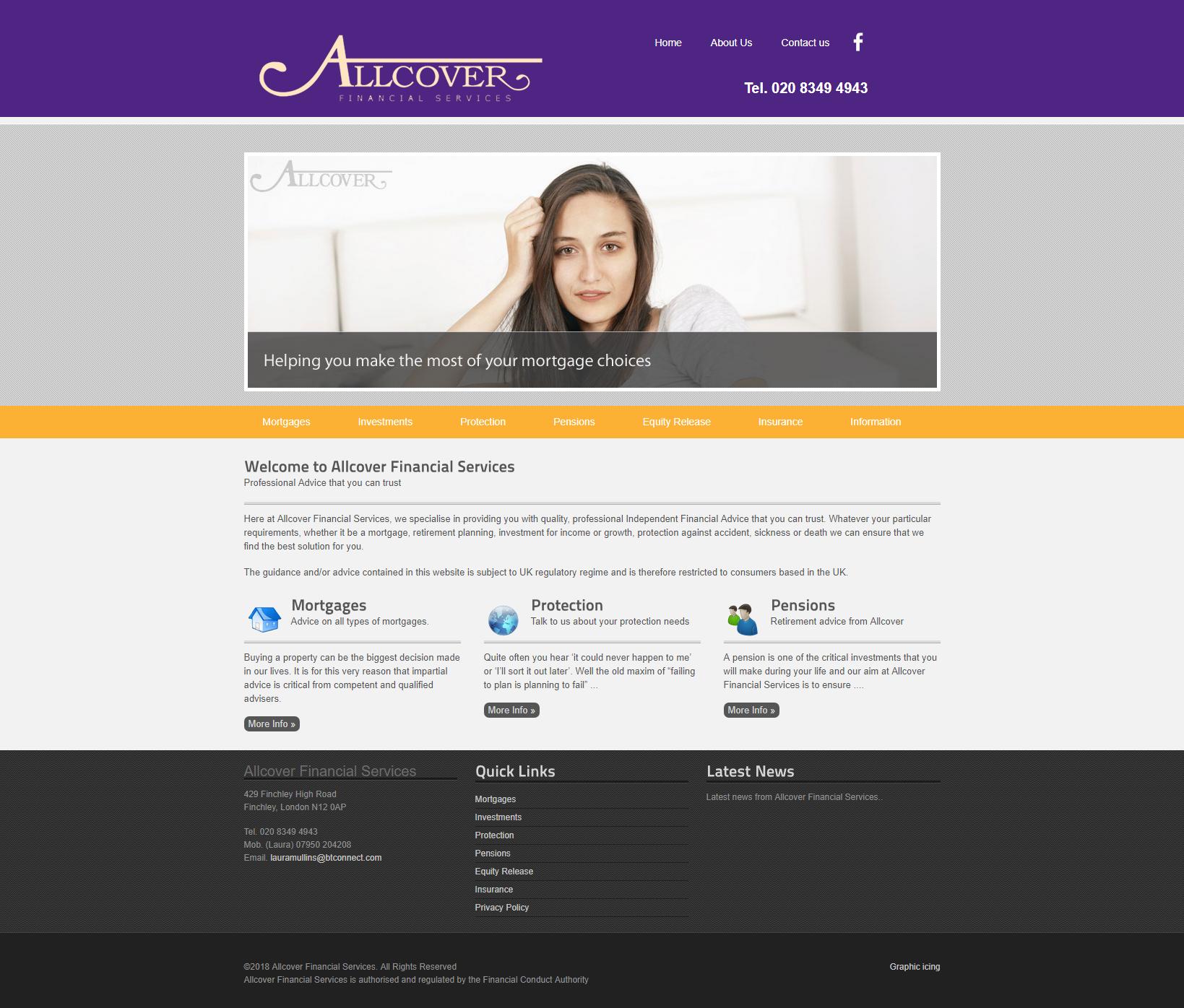 Allcover website design update