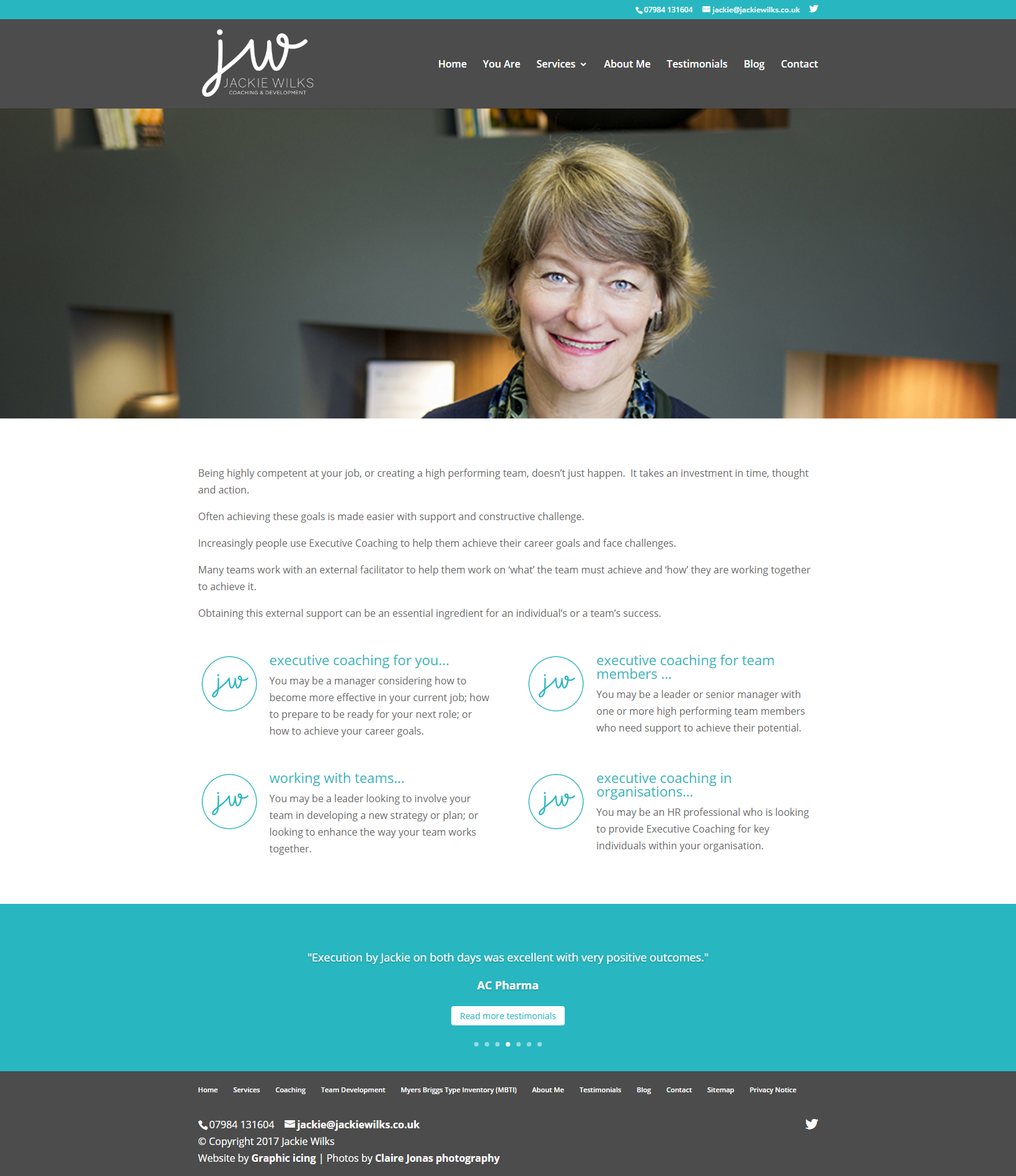 Jackie Wilks Website design
