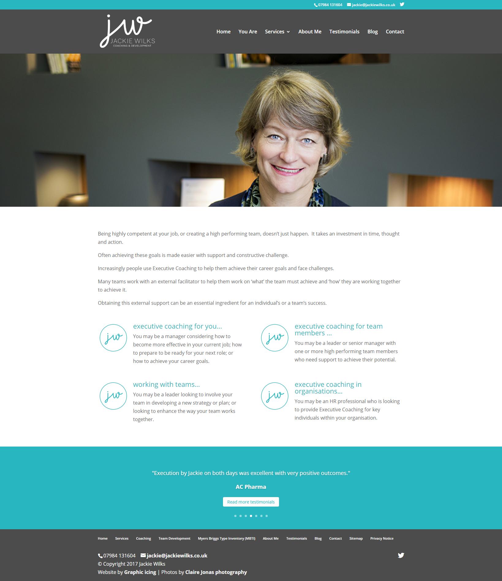 Jackie Wilks Website design